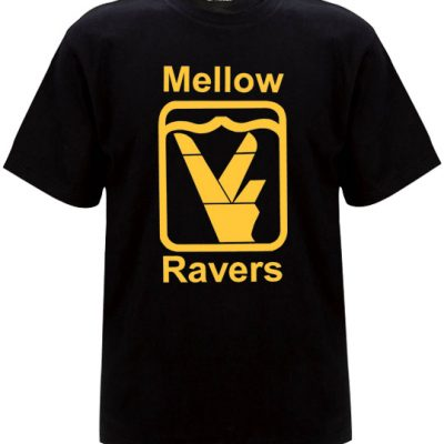 Old skool black mellow ravers t-shirt