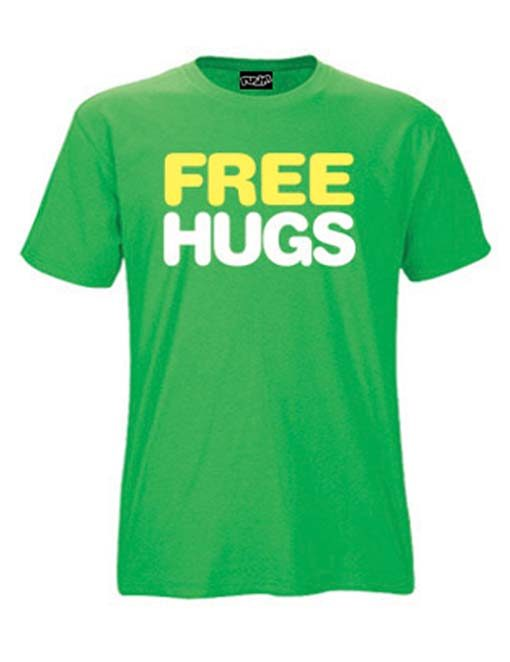 Free hugs t-shirts for men