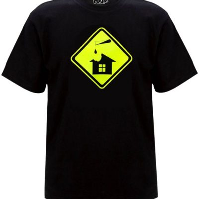 Acid house Old Skool Mens Tshirt Black