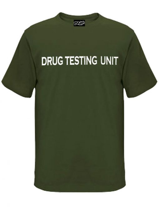Drug-Testing-Unit-Old Skool Mens Tshirt Army