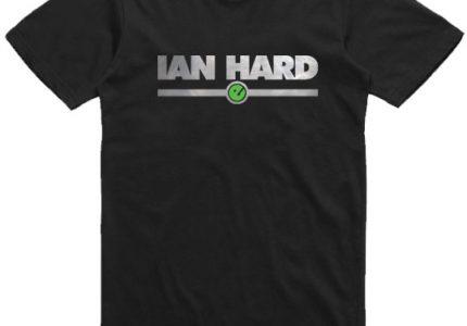 unisex mens Ian Hrad Black t-shirt