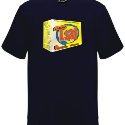 Unisex navy blue Lsd soap box t-shirt
