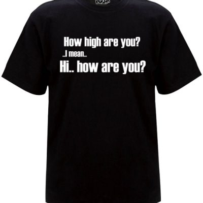 How High mens black t-shirt