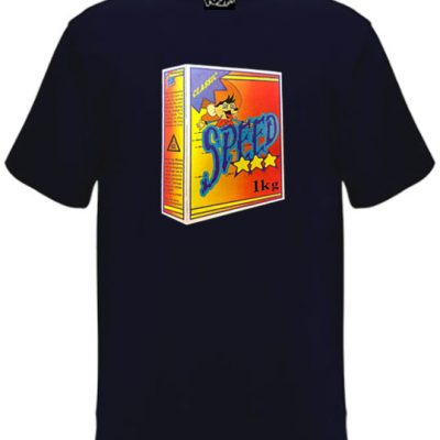 Old skool navy blue speed box t-shirt