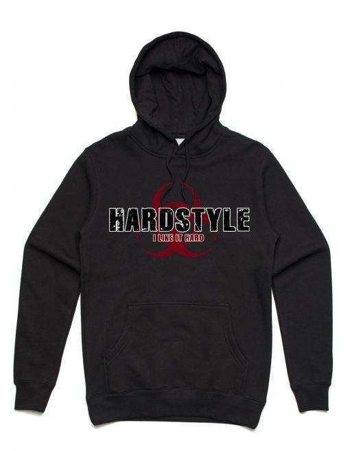 Hardstyle Hoodie Like it Hardstyle Unisex Hoodie Black
