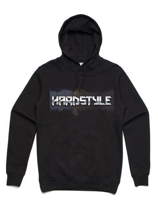 Rushn Hardstylev Mesh Unisex Hoodie Black