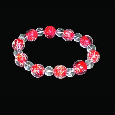 bracelets glass glow in the dark red