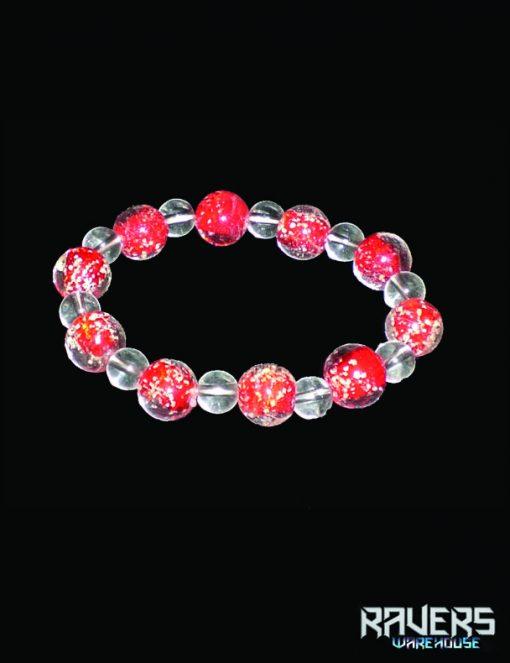 bracelets glass glow in the dark red