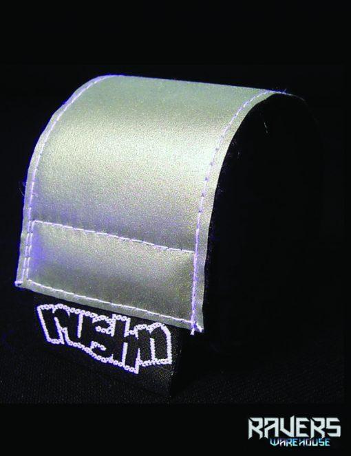 wrist band reflective silver