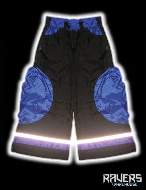 pants aero rushn black blu back