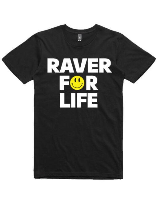 ravers-for-life-mens-tshirt-black