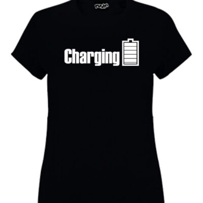 charging-girls-tshirt-black