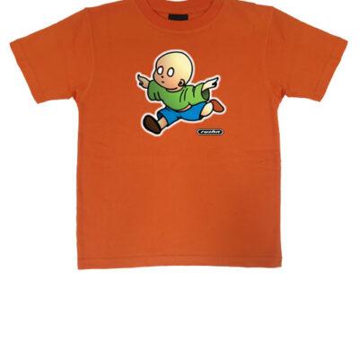 no brain baby tshirt orange