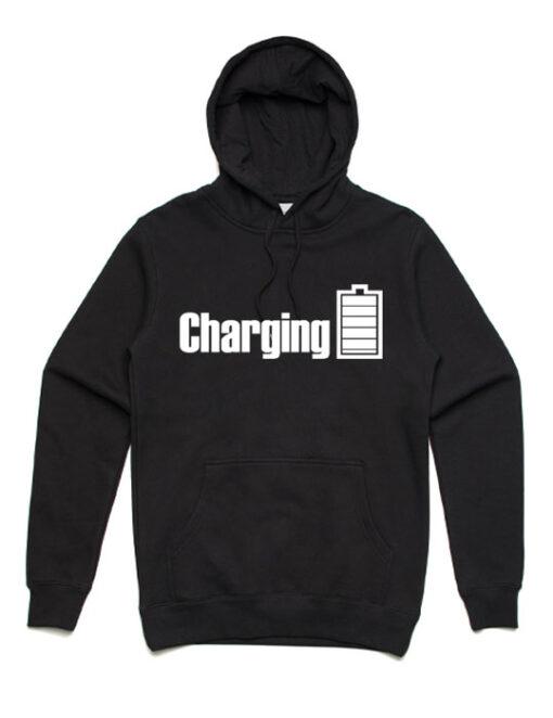 charging-unisex-hoodie-black