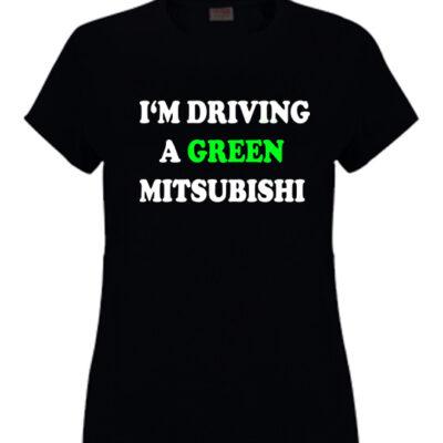 green-mitsubishi-ladies-tshirt-black