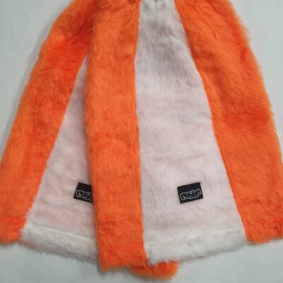 rushn leg warmers - orange and white