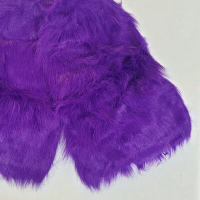 Purple long hair fluffy leg warmers
