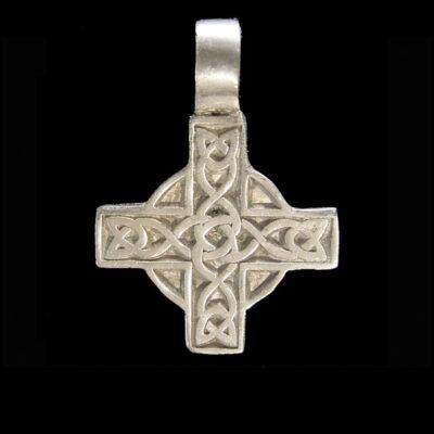 celtic cross pewter necklace pendant